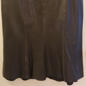 Black Karen Kane Leather Skirt